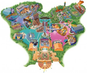 Plattegrond Walt Disney Studios Park